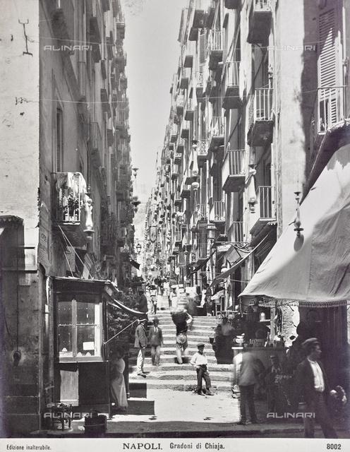 The steps of Via Chiaia, Naples