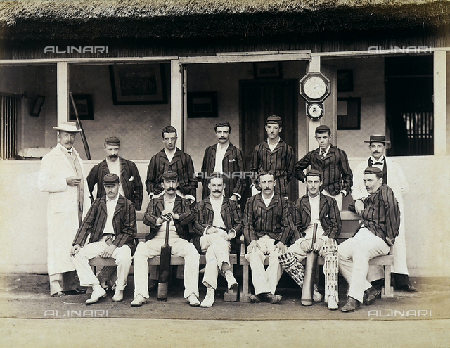 Portrait of a cricket team in sporting wear