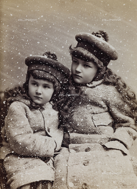 Portrait of two girl