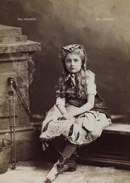 Portrait of little girl in costume