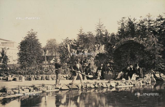 """""""Esposizione italiana of 1861"""": the garden grotto"""