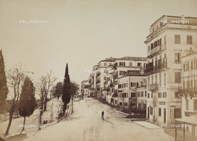"""Memories of Corfu"". View of the streets"