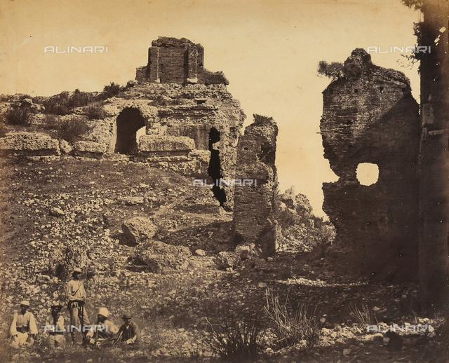 Ruins of a Roman amphitheater in Albania