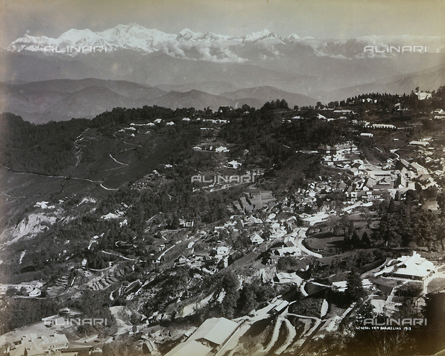 View of the city of Darjeeling, India