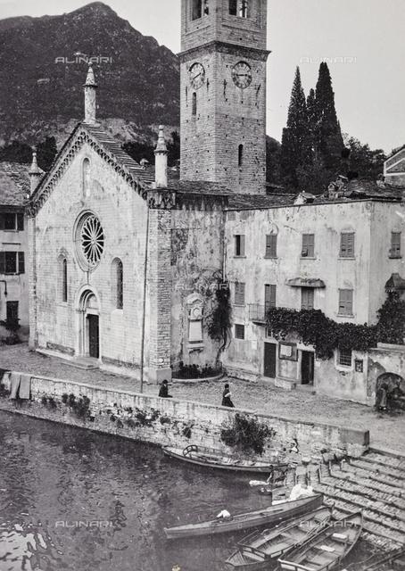 The parish church of Argegno on Lake Como