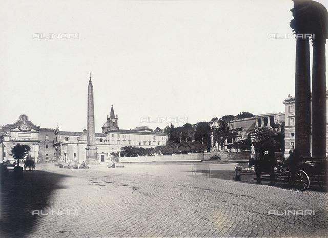 View of the Piazza del Popolo in Rome