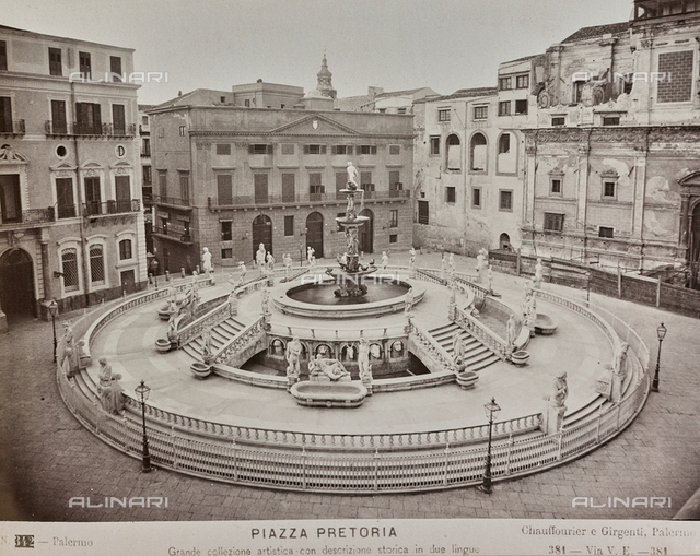 Pretoria Fountain, Francesco Camilliani, Piazza Pretoria, Palermo