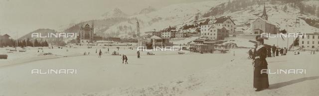 Saint-Moritz in the snow