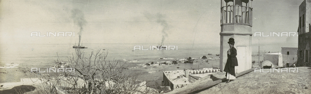 The sea of Jaffa seen from 'Fanar'