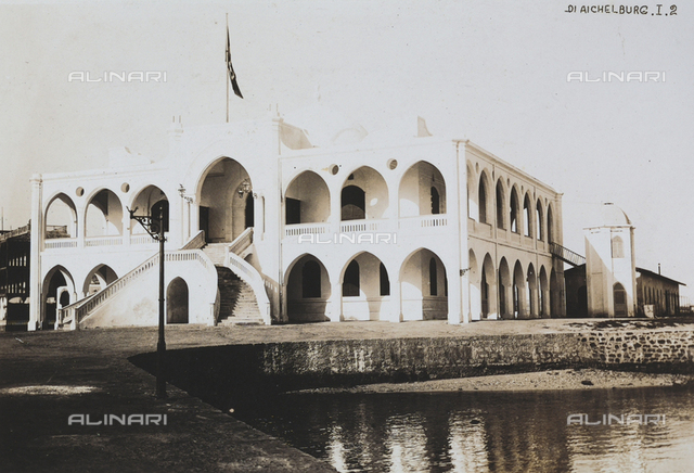 Palazzo Serraglio, seat of the governor, in Massaua in Eritrea