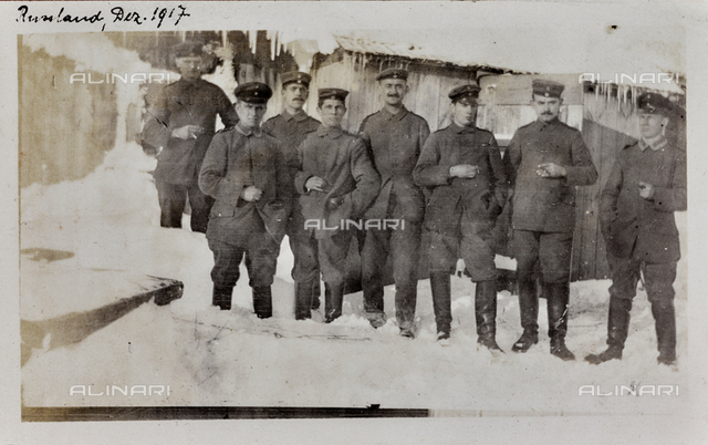 World War I: group of soldiers, Russia