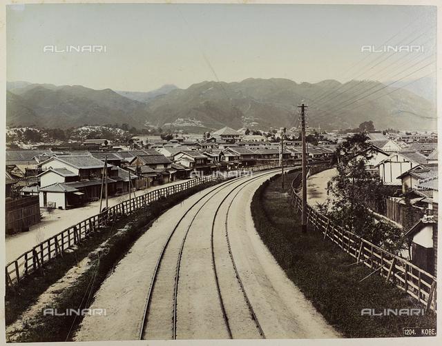 View of Kobe in Japan