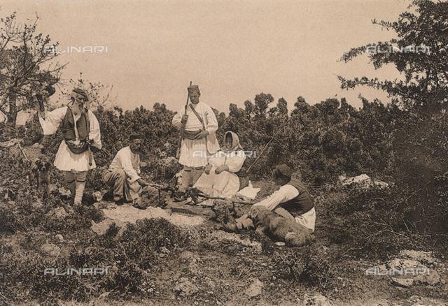 """""""En Grèce par monts et par vaux"""" (""""In Greece Through Mountains and Valleys""""): bivouac in the environs of Zemenon"""