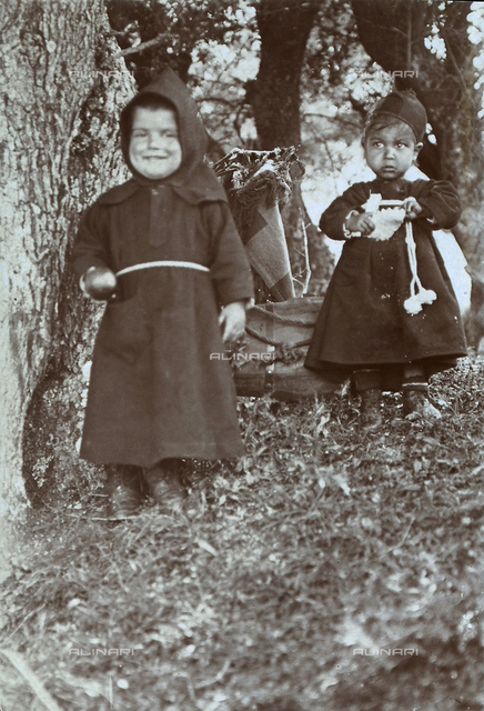 Children from the Sardinia countryside