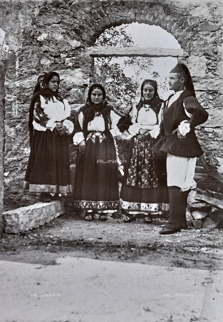 Farmers in traditional costume, Sardinia