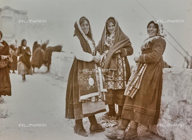 Women in traditional costume, Sardinia