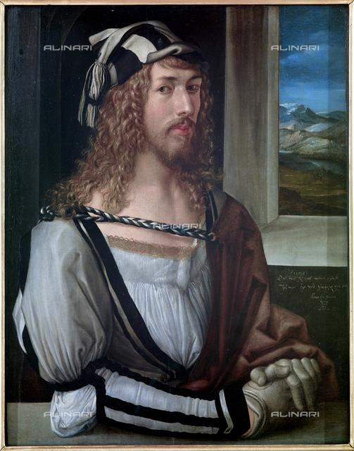 Autoritratto, olio su tela, Albrecht Dürer (1471–1528), Galleria degli Uffizi, Firenze