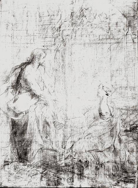 Study for a Noli Me Tangere, drawing by Federico Barocci, Gabinetto dei Disegni e delle Stampe, Uffizi Gallery, Florence
