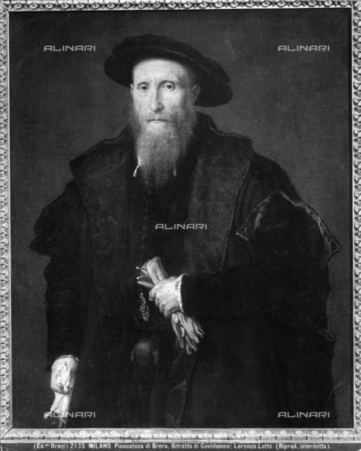 Portrait of an old Gentleman with gloves, Brera Gallery, Milan