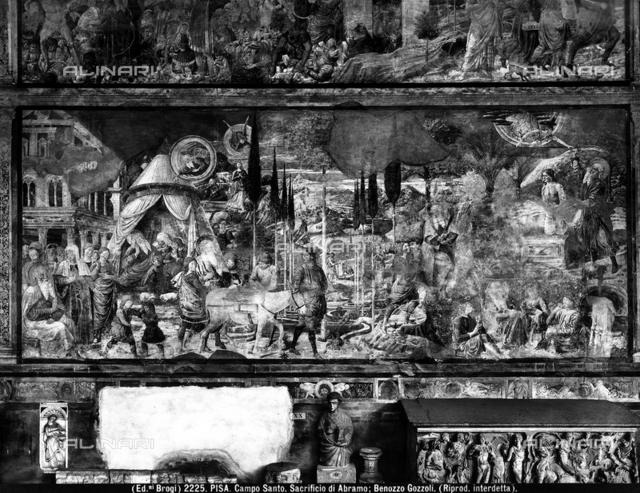Dream of Abraham and sacrifice of Abraham, Benozzo Gozzoli, Sinopia Museum, Pisa.