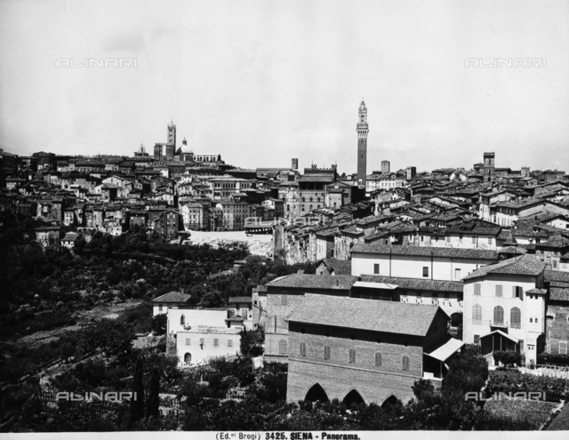 View of the city of Siena