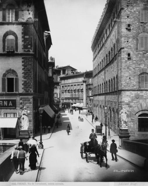 Animta View of Via de' Tornabuoni, Florence