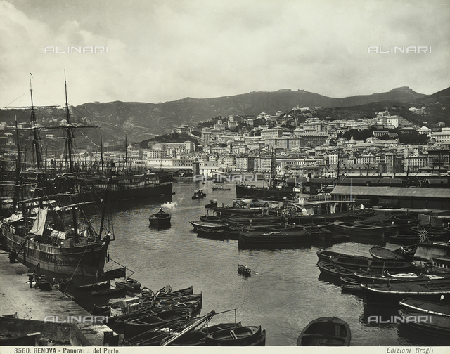 View of Genoa's port.