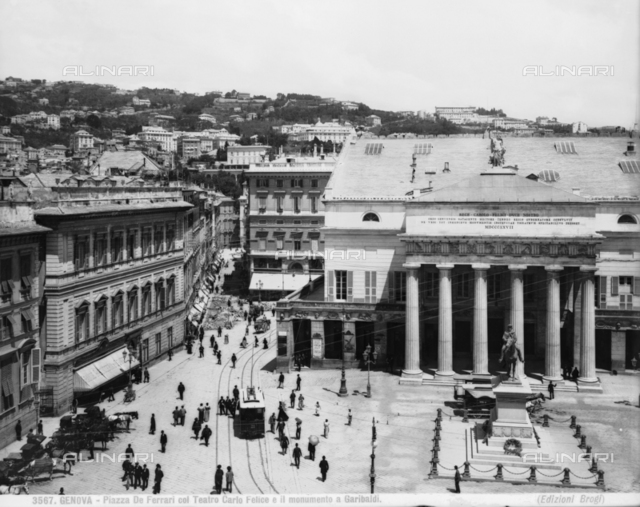 View of Piazza De Ferrari, Genoa