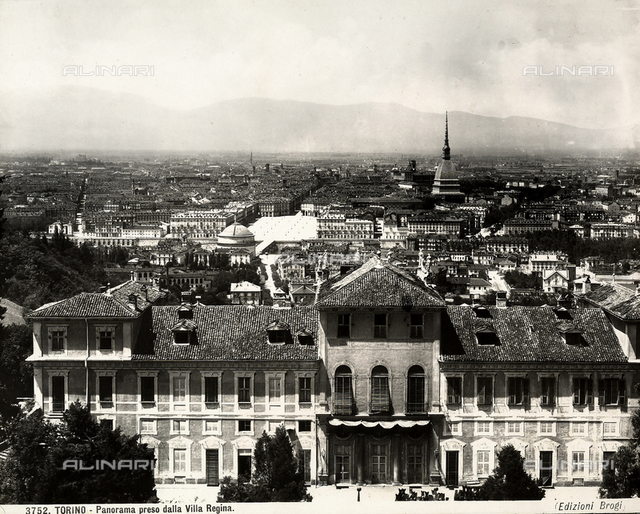 View of Turin shot from the Villa Regina.