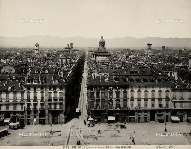 View of Turin shot from the Madama Palace.