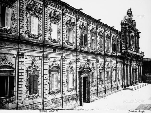 Faà§ade of the Palazzo del Governo or Palazzo della Prefettua (former Convent of the Celestini), in Lecce