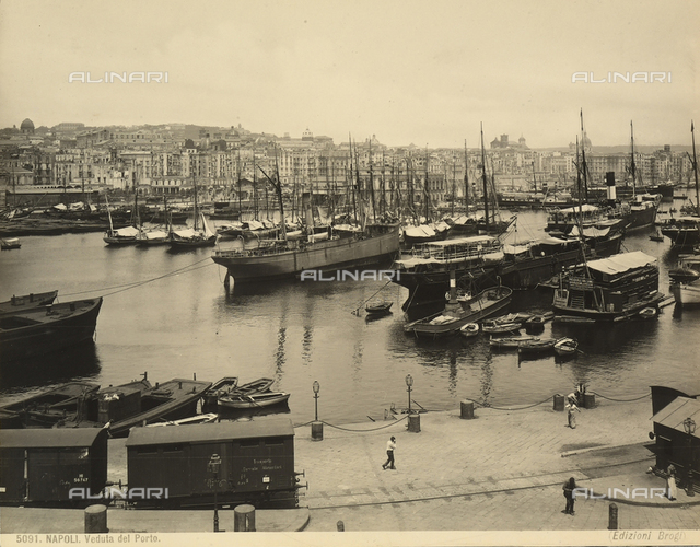 View of the quaint port of Naples