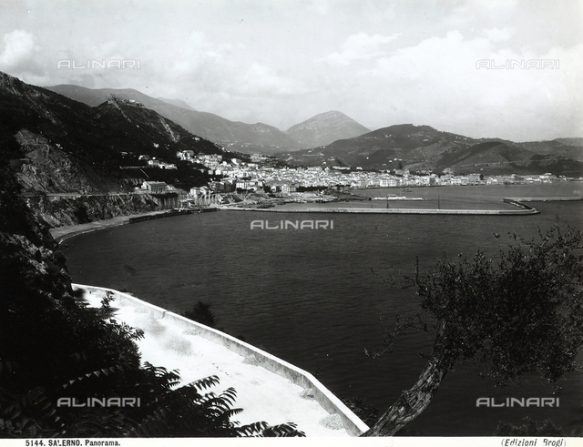View of the gulf of Salerno