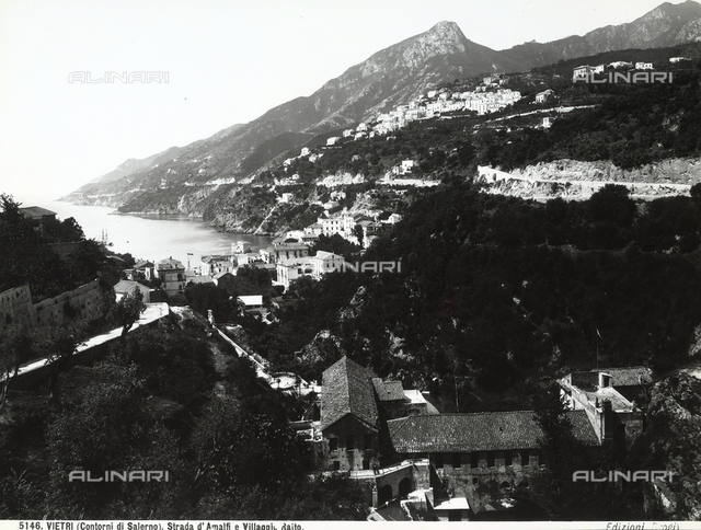 Panoramic view of Vietro and the road from Amalfi