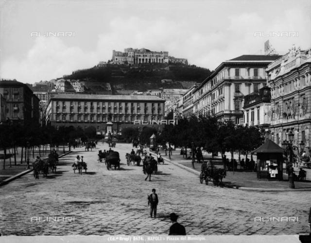 View of Piazza Municipio in Naples
