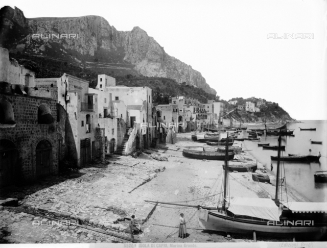 View of Marina Grande in Capri