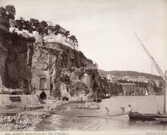 The Marina Piccola in Sorrento, with the Angleterre Hotel.