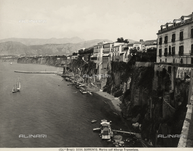 The Sorrento coast with the Tramontano Hotel.