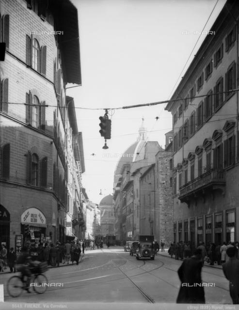 Via Cerretani with Santa Maria del Fiore Cathedral in the background, Florence
