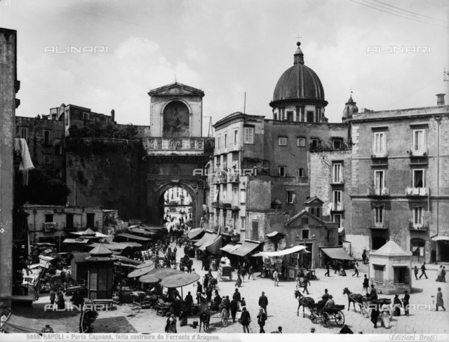 View of Naples near Porta Capuana
