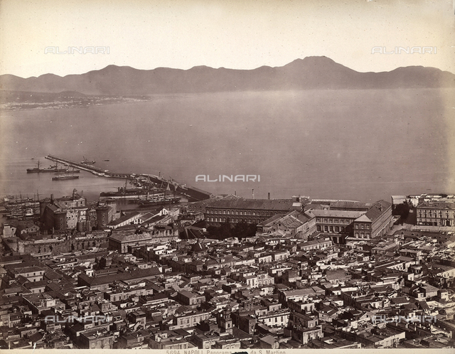 Panoramic view of the Gulf of Naples shot from San Martino.