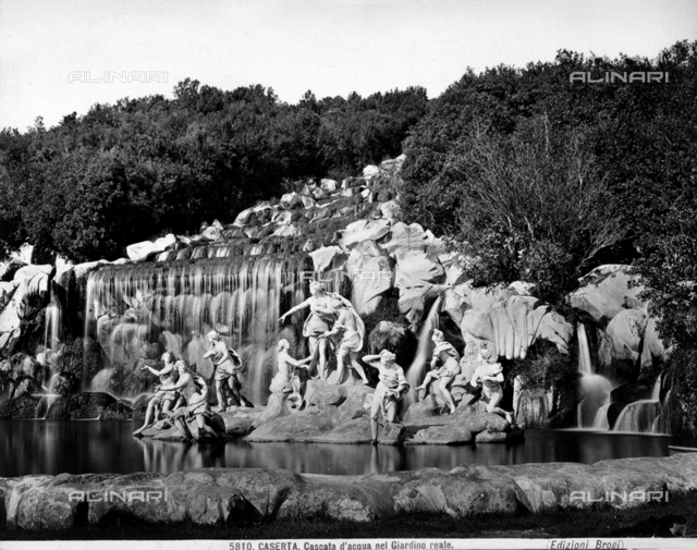Diana surrounded by Nymphs driving Attheonis away of the Great Waterfall, Park of the Royal Palace, Caserta