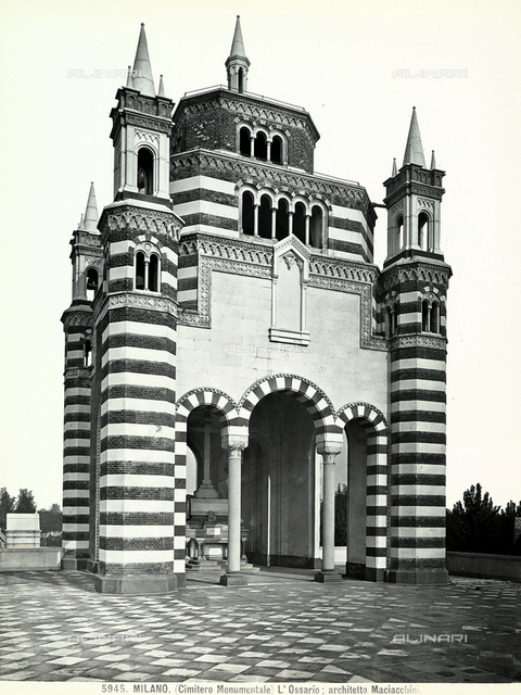 Ossuary of the Monumental Cemetery, Carlo Maciachini, Milan.