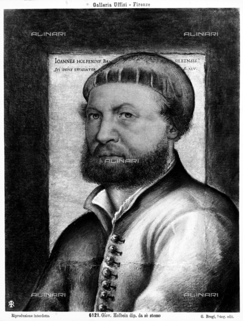 Self-portrait of Hans Holbein the Younger, Uffizi Gallery