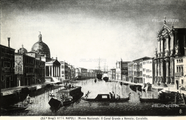 View of Venice with the Grand Canal, located at the Capodimonte Museum, Naples.