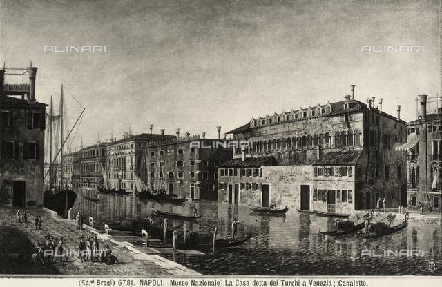 View of the Fondaco dei Turchi in Venice, Capodimonte Museum, Naples
