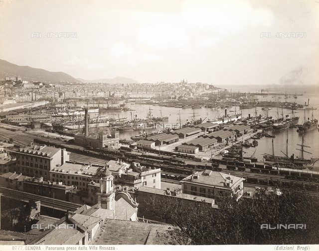 View of Genoa from the Villa Rosazza.