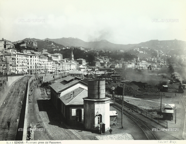 View of Genoa from Passonovo