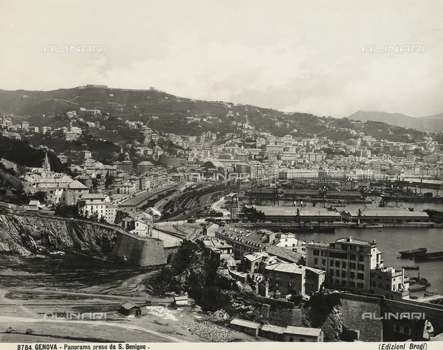 View of Genoa from San Benigno