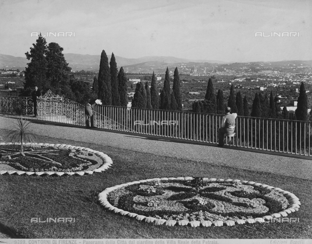 View of Florence from the garden of the Petraia Medici Villa in Castello.